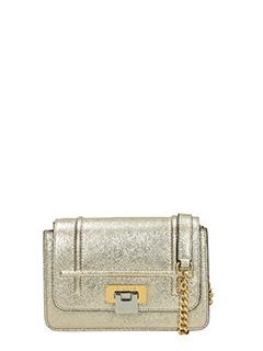 Visone-Borsa Lizzy Small in pelle oro