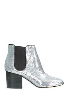 Diane Von Furstenberg-Tronchetti Demonte in  pelle e  paillettes argento