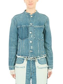 Helmut Lang-cyan denim outerwear