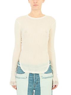 Helmut Lang-beige cotton knitwear