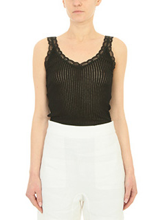 Helmut Lang-Top Lingerie in cotone nero