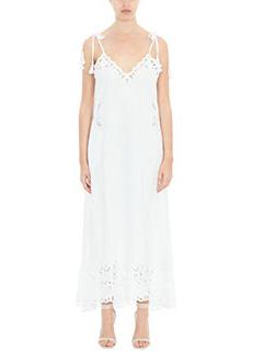 Theory-Vestito Taytee in cotone bianco