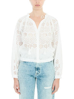 Theory-Maryana white cotton Blouse