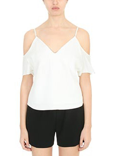 T by Alexander Wang-Top Shoulder top in seta bianca