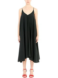 T by Alexander Wang-Vestito Trapeze Dress in cotone nero