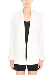 T by Alexander Wang-Blazer in cr�pe bianca