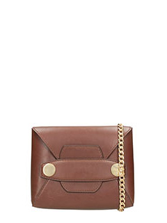 Stella McCartney-Borsa Popper in alter nappa marrone
