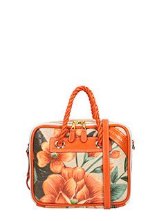 Balenciaga-Borsa Blanket Square S in canvas fiori arancione