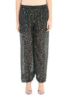 Diane Von Furstenberg-Pantaloni Beach Culotte in cotone nero