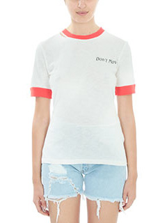 Off White-T-shirt Hand Gun in cotone bianco