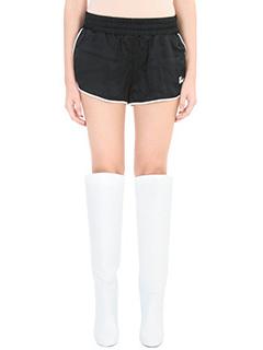 Off White-Short in cotone e nylon nero