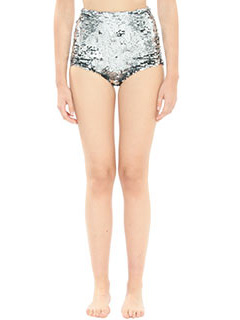 Off White-Culotte Sequins Formal in tessuto paillettes argento