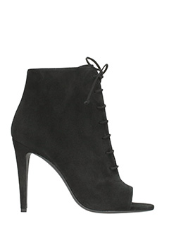Off White-Tronchetti Camy Over Open Toe in suede nero