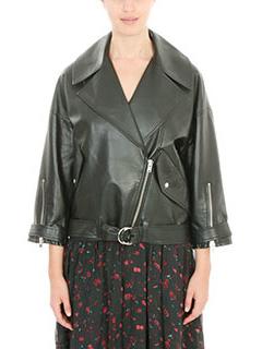 Iro-Reza black leather outerwear