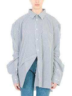 Vetements-Camicia Vetements x Comme Des Garcons in cotone  blue bianco