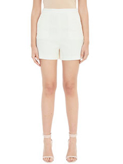 Theory-Shorts in crepe bianca