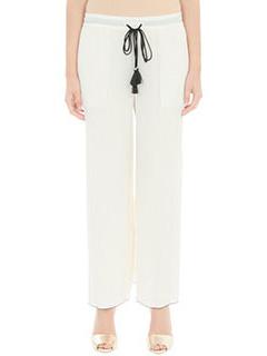 Theory-Pantaloni Laudine in cotone beige