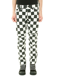 G-STAR RAW ELWOOD-Pantalone Check Print in cotone