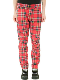 G-STAR RAW ELWOOD-Pantalone Royal Tartan Print in cotone