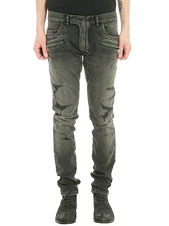 Balmain-Jeans Destroyed in denim nero