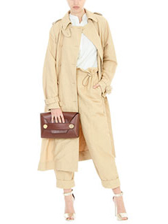 Stella McCartney-Trench in cotone beige