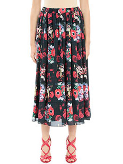 Kenzo-Gonna A Line Skirt in seta nera