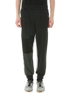 Adidas per Alexander Wang-Pantalone Patch Track in tessuto tecnico nero