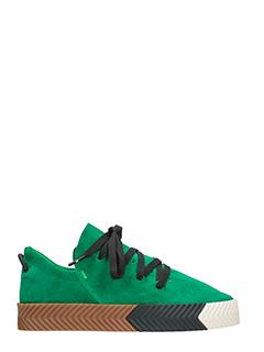 Adidas per Alexander Wang-Sneakers AW Skate in camoscio verde