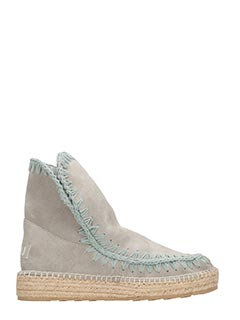 Mou-Stivali Eskimo 18  Jute  in suede new grey