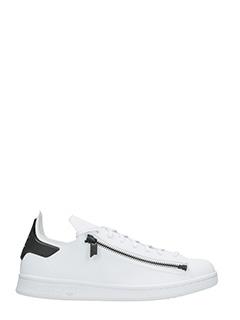 Y-3-Sneakers Stan Zip in pelle e tessuto bianco nero
