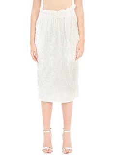 Victoria Beckham-Gonna Tube Skirt in ciniglia bianca