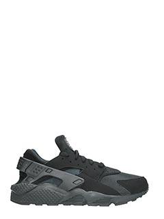 Nike-Sneakers Huarache in pelle e camoscio nero