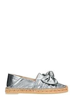 Ras-Espadrillas 8527 in pelle laminata argento