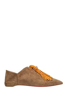 Christian Louboutin-Medinana flat leather color suede flats