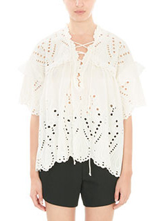 Iro-Elyor white cotton Blouse