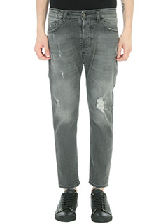 Low Brand-Jeans Carrot in denim grigio