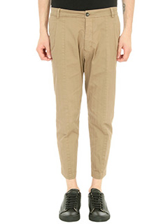 Low Brand-Pantalone Fantasy in cotone beige