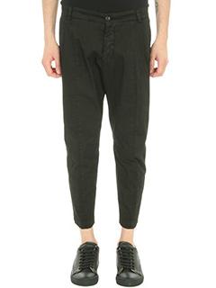 Low Brand-Pantalone T 7.0 in cotone nero