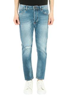 Low Brand-Jeans Carrot in denim blu