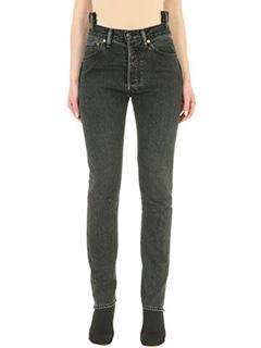 Vetements-Jeans Vetements X Levis in denim nero