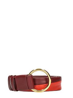 Diane Von Furstenberg-bordeaux leather belt