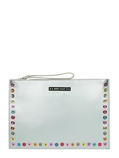Marc Ellis-Pochette Mirror in pelle argento