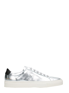 Common Projects-Sneakers basse Achilles Retro in pelle argento
