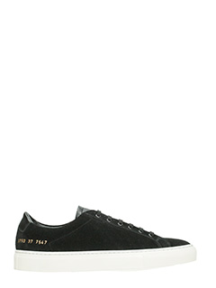 Common Projects-Sneakers basse Achilles Retro in suede nero