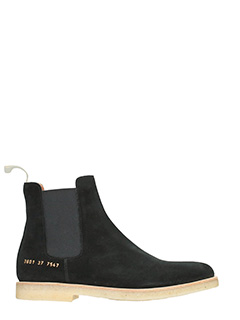 Common Projects-Tronchetti Chelsea  in suede nero