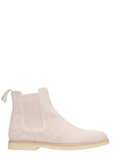 Common Projects-Tronchetti Chelsea  in suede rosa