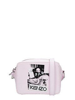 Kenzo-Borsa Antonio Lopez Mini Camera in vernice rosa