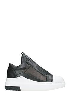 Cinzia Araia-Sneakers basse slip on in pelle nera