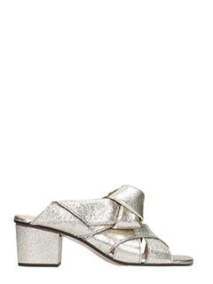 Chloé-Sandali in pelle glitter oro