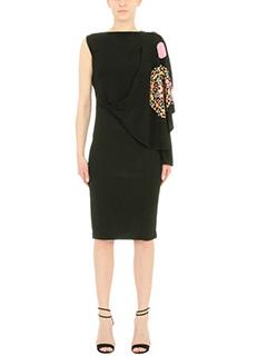 Givenchy-black cotton dress